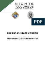 Arkansas Knights of Columbus Newsletter November 2015