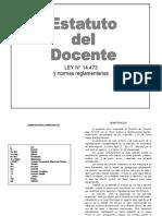 Estatuto Docente ley14473