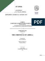 The Chronicle of Arbela