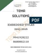 IEEE Emdedded Project Titles 2015