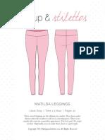 Matilda Leggings Spit Up Sewing pattern