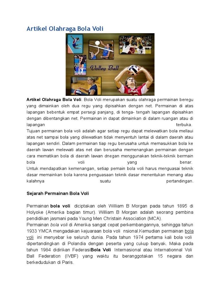 Artikel Olahraga Bola Voli Docx