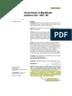 2. Dr. Dr. Billy Kepel, MMedSc - 1. Latihan Cross Sectional Study of Mandibular Fracture in Southern Iran