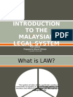 First Lecture-The Introduction to the Malaysian Legal System