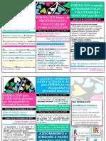 Folleto 1ª Fase Del Proyecto Construyendo Sexualidades 2015. Cronograma Actuaciones. Nov2015.
