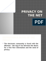 Privacy on the Net