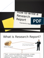 WritingReport