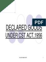 M1 Declared Goods
