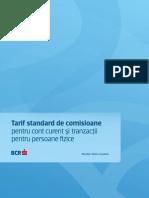 Tarif Standard de Comisioane