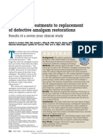 Alternative Treatments to Replacement of Defective Amalgam Restorations
