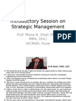 strategic management and pm-1