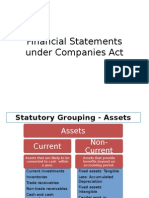 Financial Statements Under Companies Act