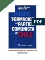 HR Necochea - Origen y Formación Del PC de Chile
