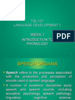 WEEK 1 Intro to Phonology