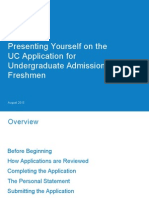 Presenting Yourself Uc Application Freshman
