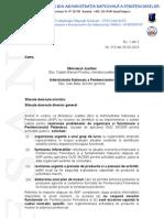 Adresa privind solutionarea situatiei Penitenciarului Pelendava