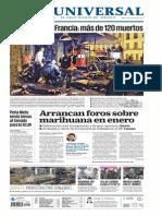 GradoCeroPress Sábado 14 de Noviembre Del 2015 Planas de Medios Impresos en México