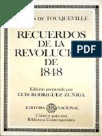 De Tocqueville Alexis - Recuerdos de La Revolucion de 1848