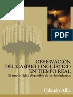 Alba, Orlando -Observación Lingüístico-el Nuevo Léxico de Dominicanos