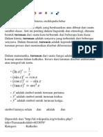 Turunan - Wikipedia Bahasa Indonesia, Ensiklopedia Bebas