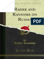 Arthur Ransome on Russia 1918