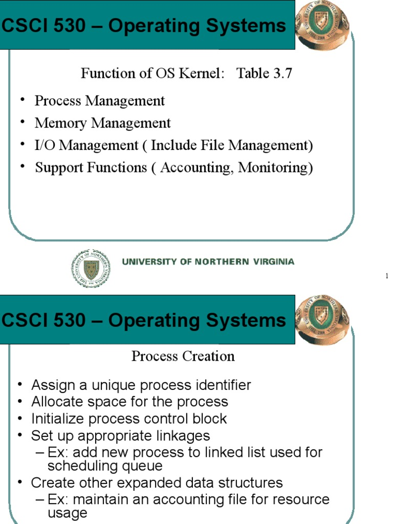 CSCI530SESSION3PART3 | Process (Computing) | Operating System