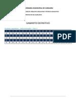 Fgv 2015 Camara Municipal de Caruaru Pe Tecnico Legislativo ( Gabarito)