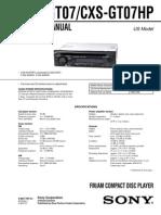 Sony Cdx Gt07 Cxs Gt07hp