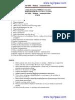 BA7108-Written Communication Question Bank