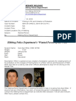 Wanted Person of the Week-Miller
