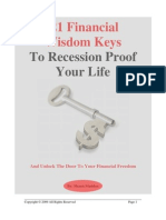 21 Wisdom Keys to Recession Proof Your Life