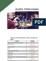 BBC Studio Interviews