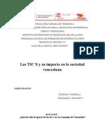 Las Tic`s y su impacto en La Sociedad Venezolana