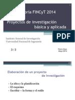 Proyectos 3 FINCyT 2014 Pierre Saya