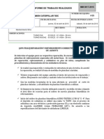 Camion Caterpillar 785c #23 Informe de Trabajos Realizados 02 Abril 2015