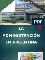 La Administracion en Argentina