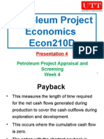Petroleum Project Economics 04