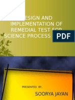 Design and implementation of remedial measures