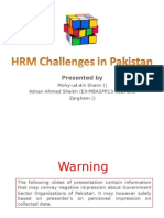 HRM - Challenges in Pakistan