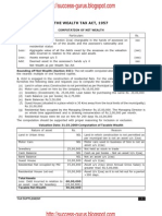 ICWAI Computation of Taxable Wealth for June and December 2009 Examinations