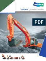 Doosan Crawler Excavator DX420LC