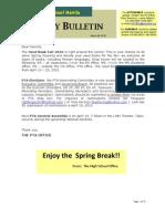 HS Friday Bulletin 03.26.10