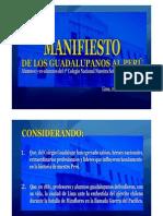 MANIFIESTO GUADALUPANO
