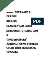 Advisory Jurisdiction of Supreme Court