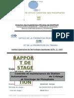 Rapport de Stage - Ocp Recette 6 . Youssoufia - Ofppt, Ista Safi 1 ( Hicham Rguigue )
