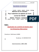 Application du contrôle de gestion dans les entreprises marocaines.PDF