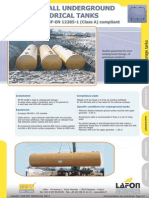 European Standard en 12285-1 Double Wall Tanks for Underground Installation Dimension