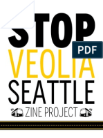 Stop Veolia Seattle Zine