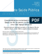 LEAL, Maria Do Carmo; SZWARCWALD, Célia Landman - Características Da Mortalidade Neonatal No Estado Do Rio de Janeiro Na Década de 80 - Uma Visão Espaço-temporal