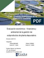Evaluación económico-financiera y ambiental de la gestión de subproductos de planta depuradora - Ing. Turnes - Ing. Becher